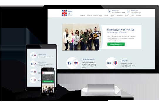 Widok realizacji strony ace.edu.pl