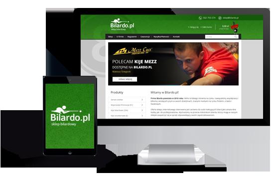 Widok realizacji sklepu bilardo.pl