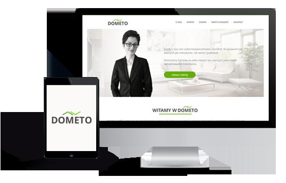 Widok realizacji strony dometo.com.pl
