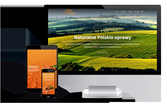 Widok realizacji strony eco-corn.pl