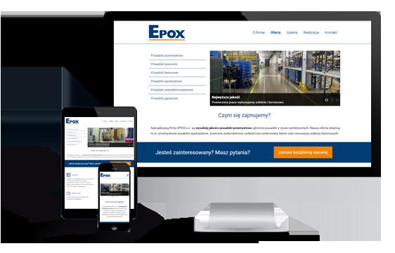 Widok realizacji strony epox.com.pl