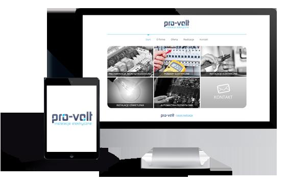 Widok realizacji strony pro-volt.pl