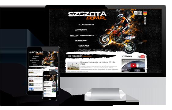 Widok realizacji strony szczota.com.pl
