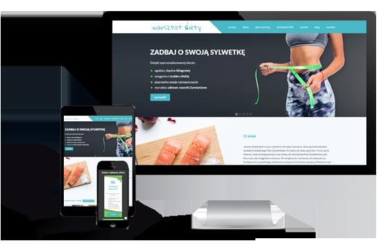 Widok realizacji strony warsztatdiety.pl
